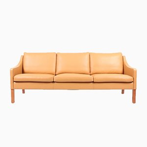 Danish Leather Sofa by Takashi Okamura & Erik Marquardsen for Skipper, 1980s