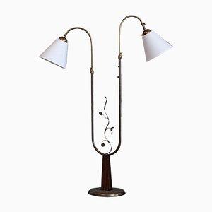 Lámpara de pie sueca de Tor Wolfenstein para Ditzingers, años 40