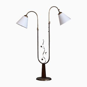 Swedish Floor Lamp by Tor Wolfenstein for Ditzingers, 1940s