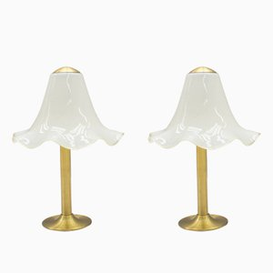 Glass Table Lamps from Doria, 1960s, Set of 2