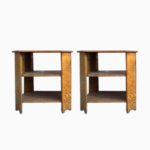 Arts & Crafts Oak End Tables from Heal's, Set of 2
