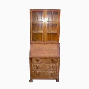 Limed Oak Secretaire from Heal's, 1930s