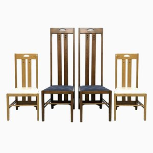 Vintage Oak Chairs, Set of 4