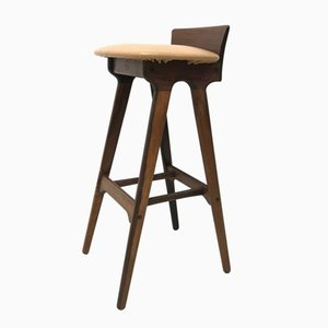 Vintage Danish Rosewood Bar Stool by Erik Buch for Chr. Christensen Møbelfabrik I/S