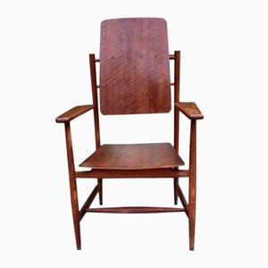 Vintage Scandinavian Style Oak Armchair