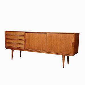 Model 18 4 Drawers & 2 Sliding Doors Teak Sideboard from Omann Jun