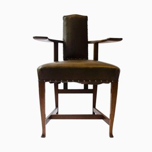 Antique Oak Abingdon Armchair by George Walton