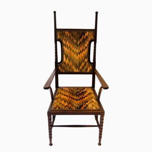 Antique Arts & Crafts Mahogany Armchair