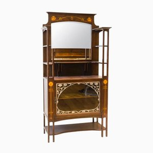 Arts & Crafts Mahogany Display Cabinet