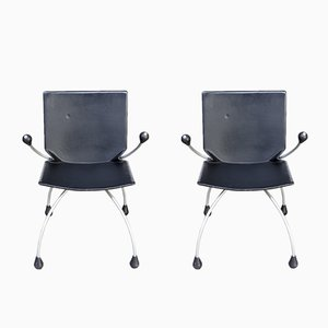 Armchairs by Charles Boonzaaijer & Pierre Mazairac for Young International, 1980s, Set of 2