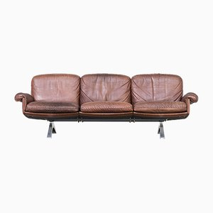 Vintage Cognac Leather DS31 3-Seater Sofa from de Sede