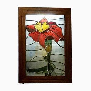 Pannello retroilluminato in vetro dipinto di Bielsko Biala, 1961