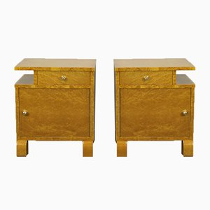 French Nightstands, 1930s, Set of 2