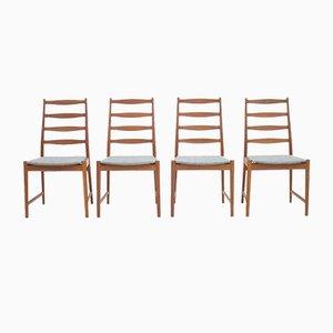 Teak Ding Stühle von Arne Vodder für Vamø, 1960er, 4er Set