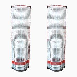 Murano Glas Stehlampen, 1950er, 2er Set