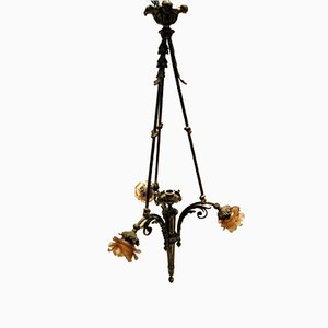 Antique Chandelier in Bronze
