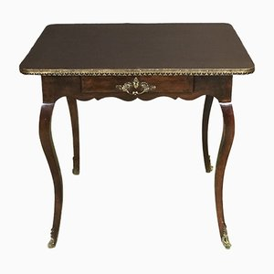 Antique Walnut Desk with Imitation Leather Top