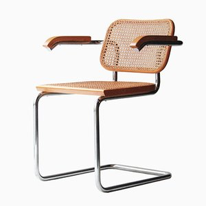 Model B64 Cesca Chairs by Marcel Breuer for Gavina, 1962, Set of 6