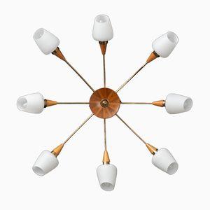 Lampada da soffitto Sputnik a 8 braccia, anni '50