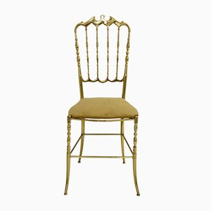 Brass Chiavari Side Chair, 1950s