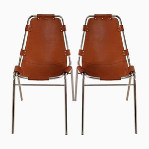 Vintage Les Arcs Chairs by Charlotte Perriand, Set of 2