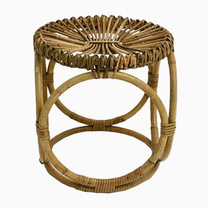 Rattan Stool from Pierantonio Bonacina, 1950s