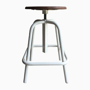 Vintage French Industrial Swivel Stool from UNIC
