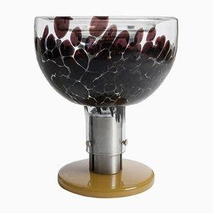 Lampada da tavolo in vetro di Murano, alluminio e bachelite, Italia, anni '70