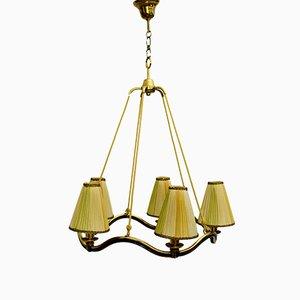 Lámpara de araña austriaca Art Déco, años 30