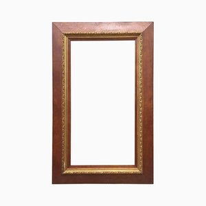 Antique French Oak & Gold Moulded Picture Frame, 1900s