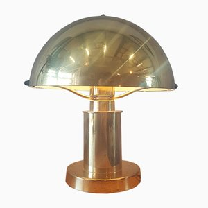 Vintage Golden Table Lamp, 1960s