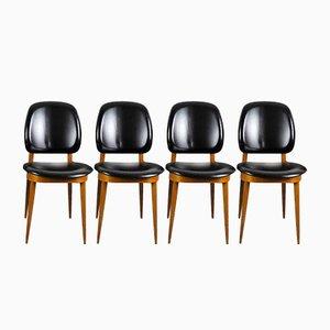 Chaises de Salle à Manger Pégase par Pierre Guariche pour Baumann, 1960s, Set de 4