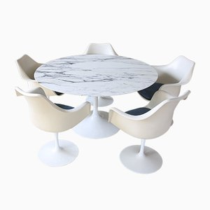 Vintage Marble Tulip Dining Set by Eero Saarinen for Knoll