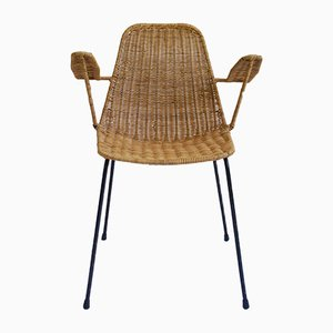 Mid-Century Basket Armchair by Gian Franco Legler