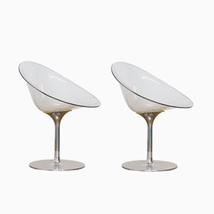 Vintage Italian Eros Swivel Chairs by Philippe Starck for Kartell, Set of 2