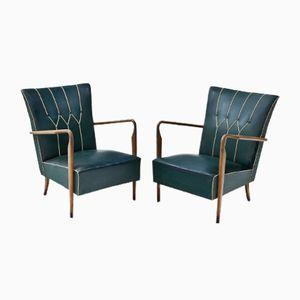 Italienischer Sessel, 1950er, 2er Set