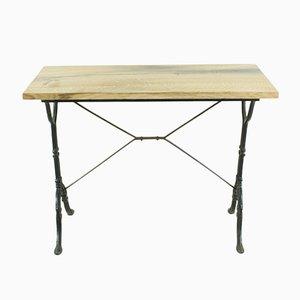 Tavolino antico in legno di quercia scuro, inizio XX secolo