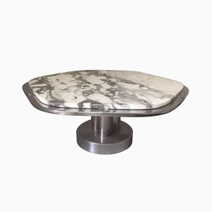 Italian Marble & Chrome Coffee Table, 1970s