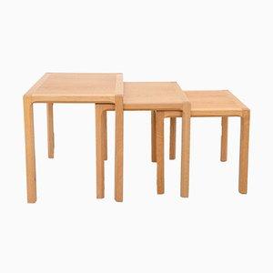 Tavolini ad incastro Mid-Century in quercia di Kai Kristiansen per Vildbjerg Møbelfabrik