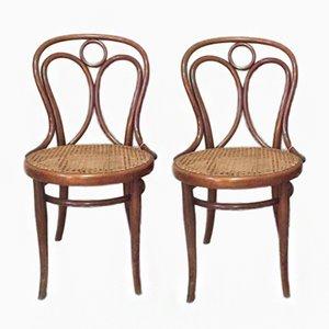 Chaises de Salon Antique en Rotin de Thonet, 1900s, Set de 2