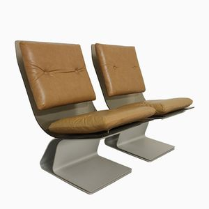 Lounge Chairs from Maison Jansen, 1970s, Set of 2