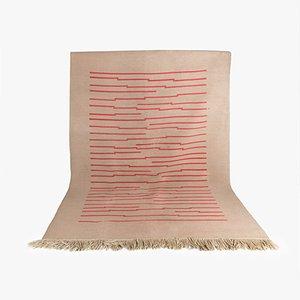 Tappeto vintage in lana con motivo geometrico