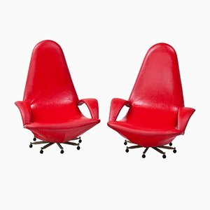 Swivel Chairs, 1950s, Set of 2