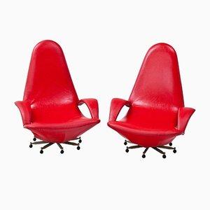 Swivel Chairs, 1950s, Set of 2