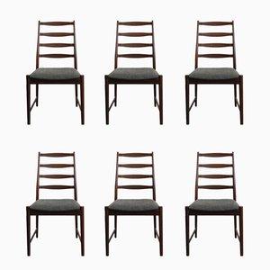 Dänische Palisander Stühle von Arne Vodder, 1960er, 6er Set