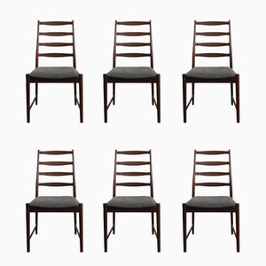 Danish Rosewood Chairs by Arne Vodder, 1960s, Set of 6