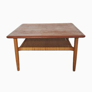 Danish Square Teak Coffee Table by Johannes Andersen, 1960s