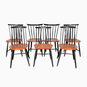 Vintage Stühle mit Sprossen von Ilmari Tapiovaara für Pastoe & Nesto, 7er Set
