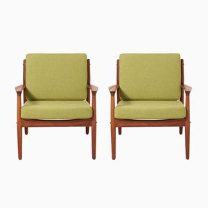 Armchairs by Grete Jalk for Glostrup Møbelfabrik, 1960s, Set of 2