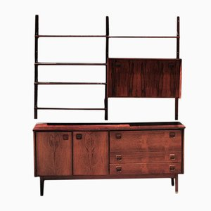 Rosewood Credenza and Wall Unit from TopForm, 1960s